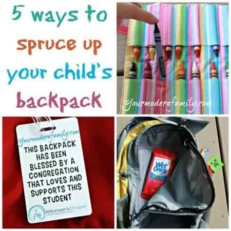 5 ways to spruce up your child's backpack