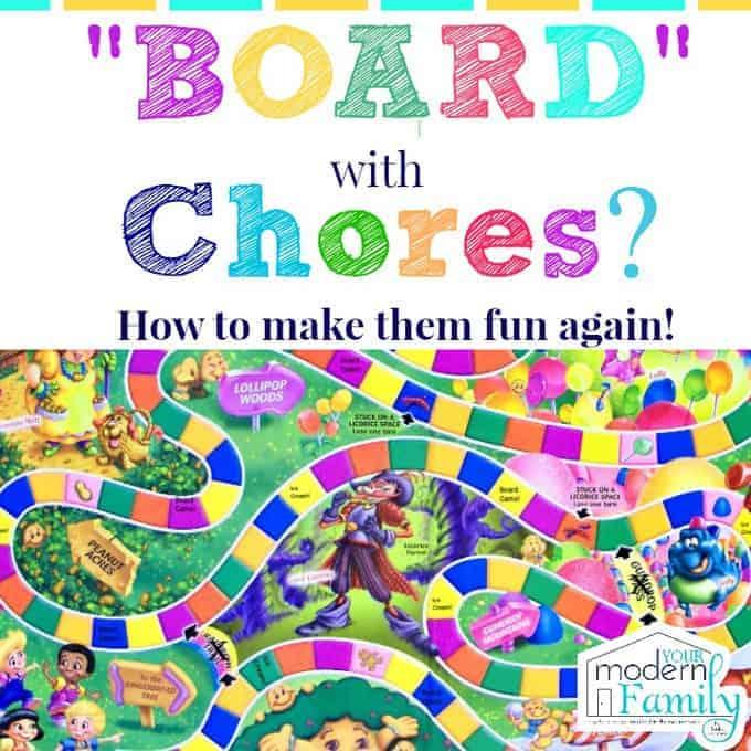 Board with Chores Make them fun again!!