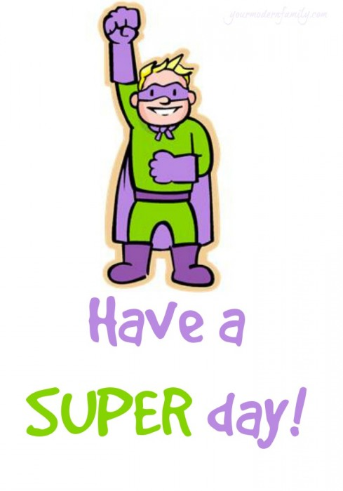 super day free printable for lunchbox notes