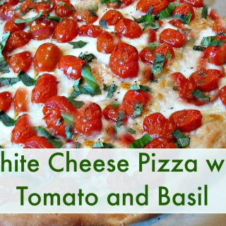 Our favorite recipe : Home made chicken basil pizza!  (The kids make it!)