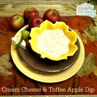 My favorite recipe: cream cheese and toffee apple dip recipe