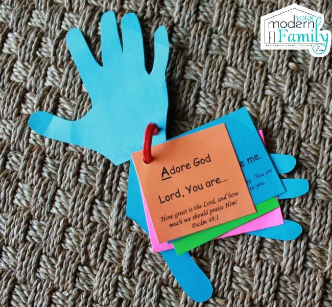 prayer hands A is for Adore