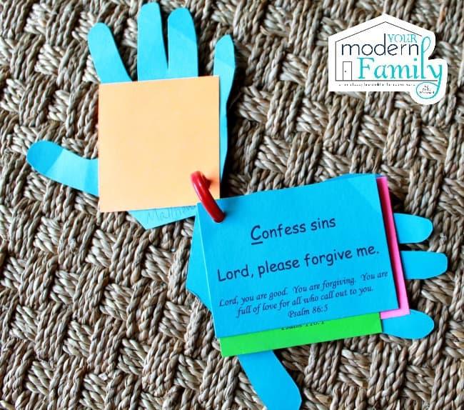 prayer hands C is for Confess Sins