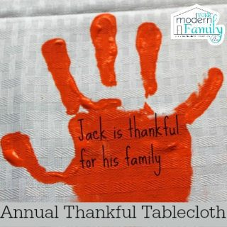 Annual thankful tablecloth