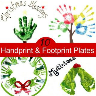 DIY Handprint plates for Christmas