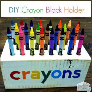 DIY crayon block holder