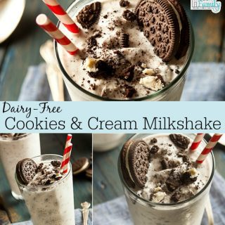 Dairy Free Cookies and Cream Milkshake