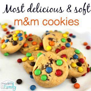 Softest M&M Cookie recipe