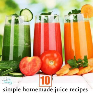 10 simple homemade juice recipes for beginners
