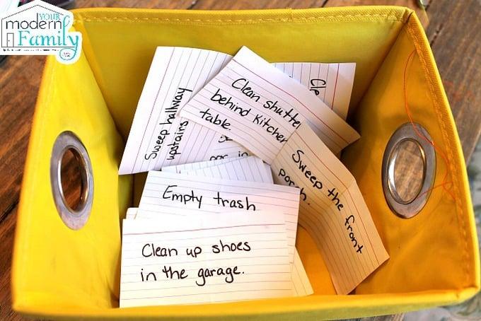 No more chore charts - why we use a chore basket