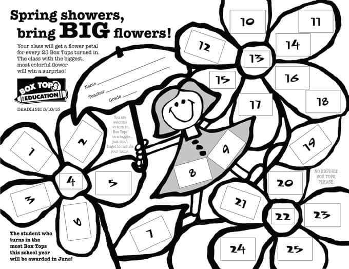 FlowerContest.indd  sc 1 st  Your Modern Family & encourage students to collect box tops Aboutintivar.Com