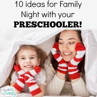 10 ideas for family night with a preschooler