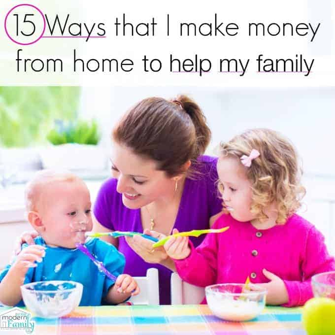 make money from home to help family