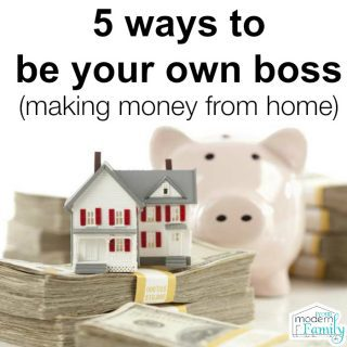 5 ways to be your own boss (making money working from home!)