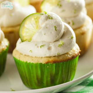 Lime Cupcakes with Essential Oil