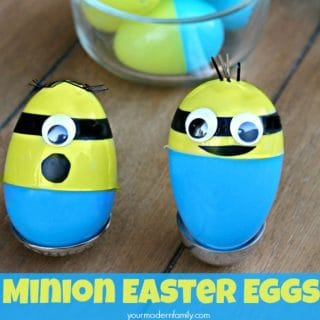 Minion Easter Eggs  (and a list of what to put inside!)