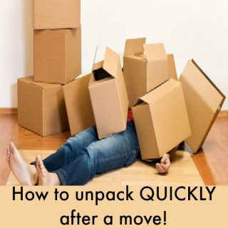 How to unpack quickly after moving