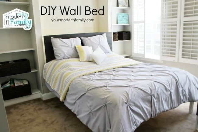 Wall Bed Frame diy wall bed for $150