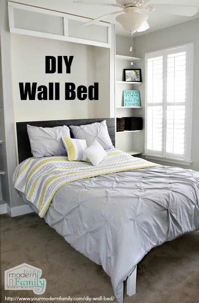 Easy To Build Diy Wall Bed For 150 Queen Murphy Bed