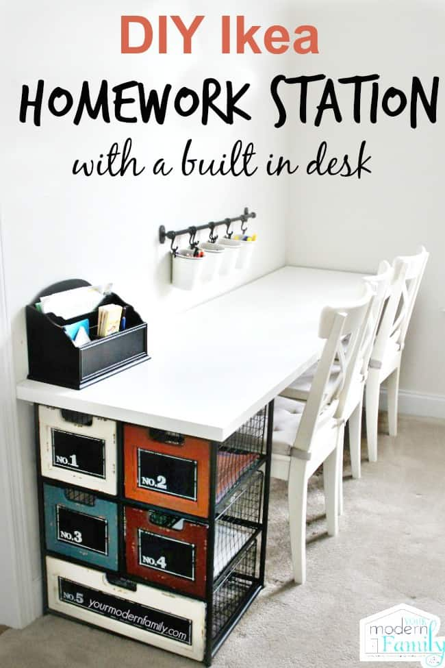 Diy Ikea Homework Station With Yourmodernfamily
