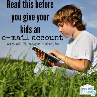 Before you let your kids have an email or Facebook account (Read this)