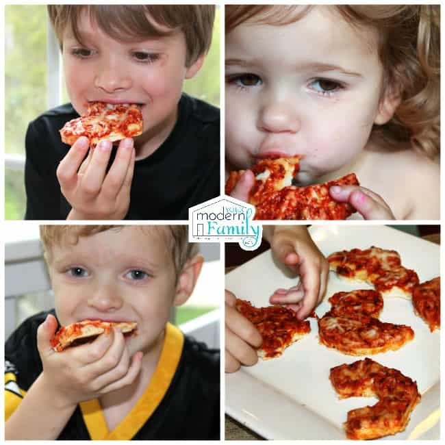 kids love cookie cutter pizza