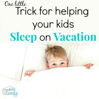 When your kids won't sleep on vacation {tip to help}