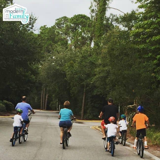 biking outdoors - yourmoderfamily