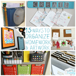15 Homework Organization and Art Display Ideas