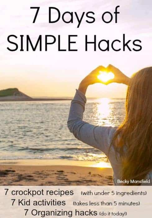 7 days of simple hacks