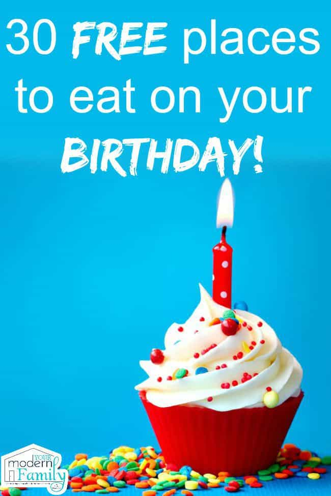 places to eat for free on your birthday yourmodernfamily