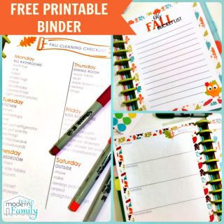 FREE Printable Fall Themed Planner