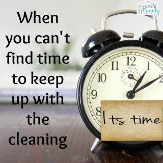 When you can't find time to keep up with cleaning  (& a chance to win)