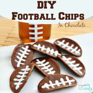 Chocolate Covered Pringles – football chips