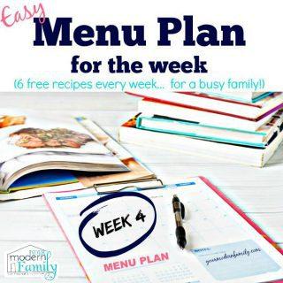 Menu Plan (free)