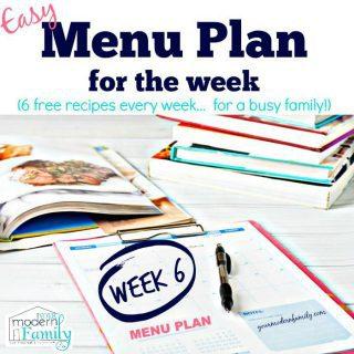 Free menu plan – week 6