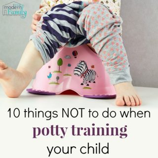 10 things you should never do when potty training a child