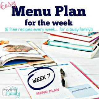 Free Menu Plan – Week 7