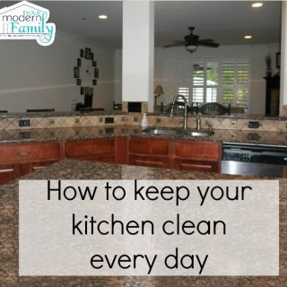 How to keep your kitchen clean every day  (What we do in our house)