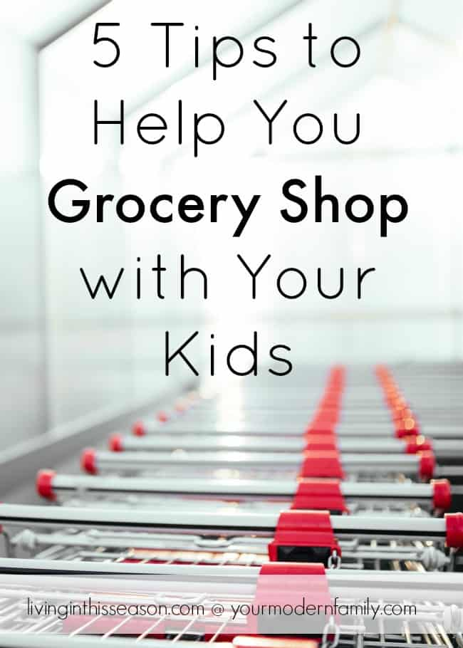 Grocery Shopping does not have to be a failure- 5 tips that will help you grocery shop with kids!