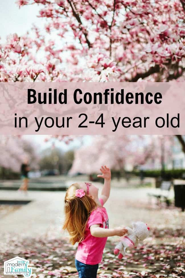 build confidence in 2-4 year old
