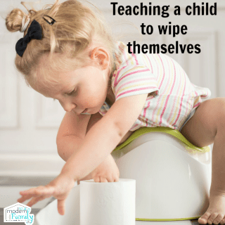 Teaching a child to wipe themselves