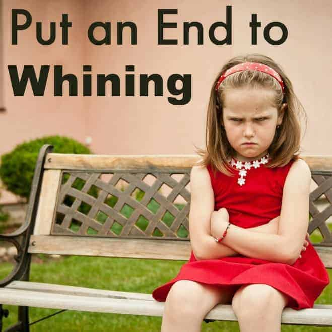 Put an end to whining