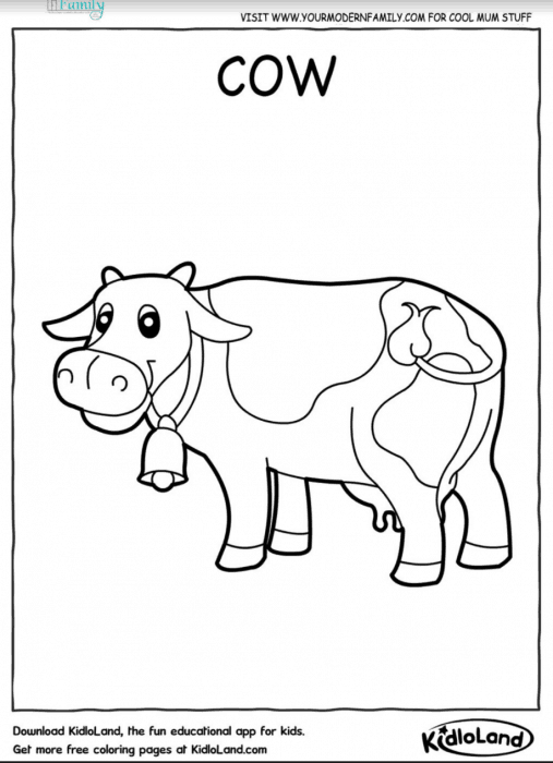 FREE farm animals printable coloring sheets  Your Modern Family