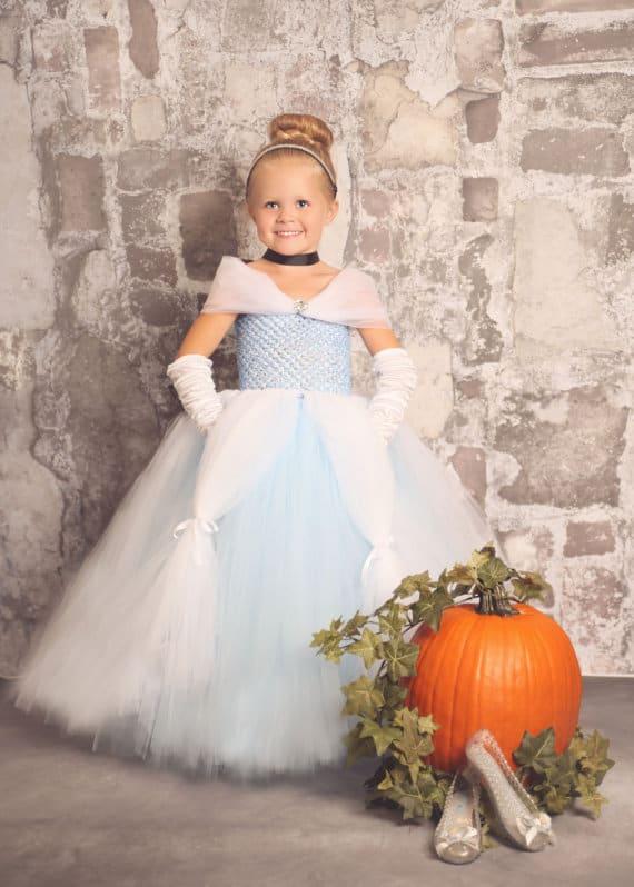 Cinderella Costume - No Sew TuTu costumes for little girls