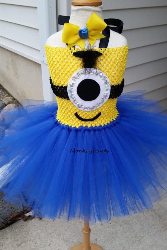 No Sew TuTu costumes for little girls - minion costume
