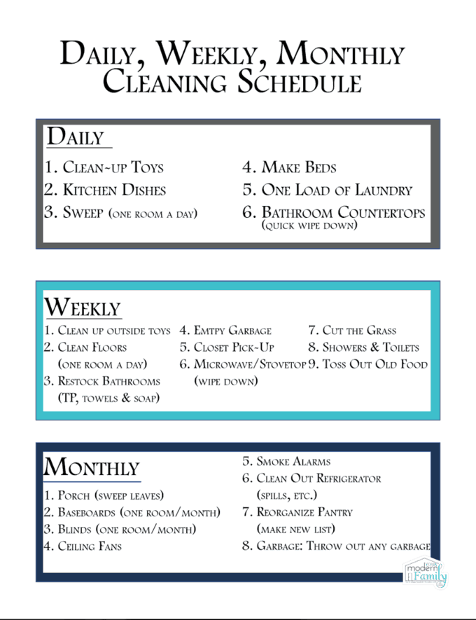 bathroom cleaning schedule elegant spring cleaning checklist with bathroom cleaning schedule. Black Bedroom Furniture Sets. Home Design Ideas