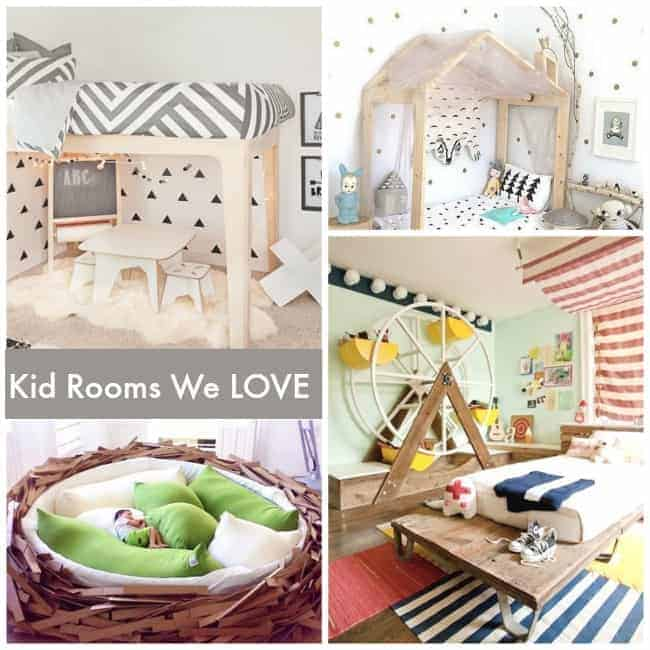 Family Rooms We Love: 10 Big Kid Beds I Love!