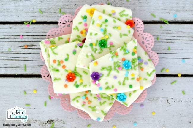 White Chocolate Bark from above