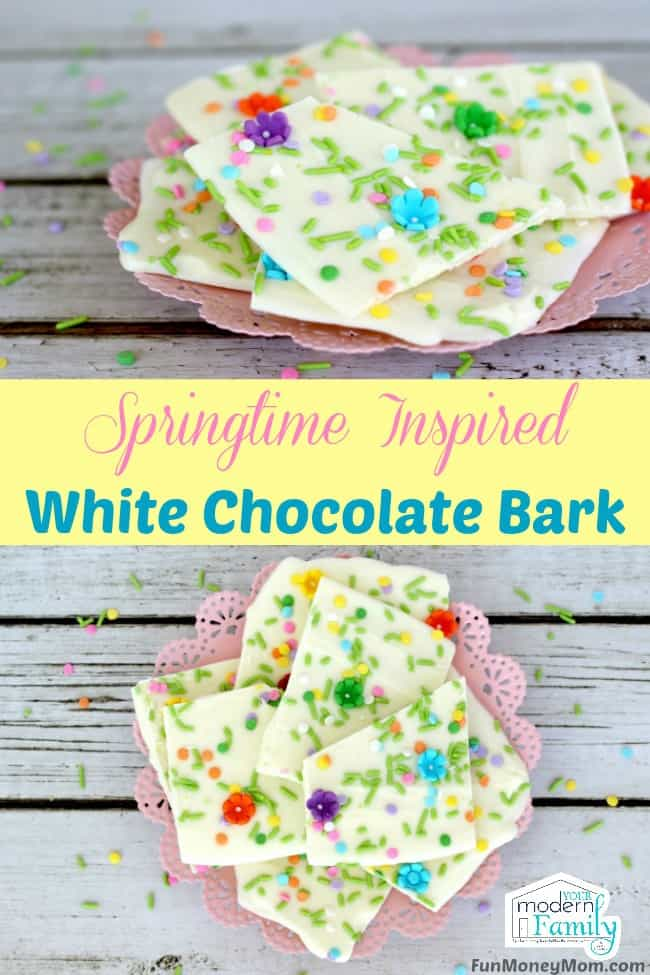 Are you excited about spring? Celebrate with this mouthwatering Springtime Inspired White Chocolate Bark